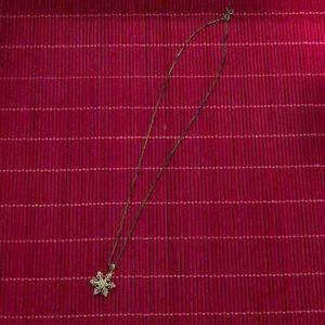 Jewelry - Snowflake Necklace with diamond chips